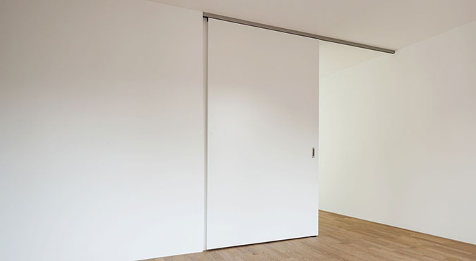 Porta scorrevole bianca moderna
