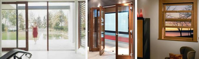 Porte e finestre con varie tipologie di aperture