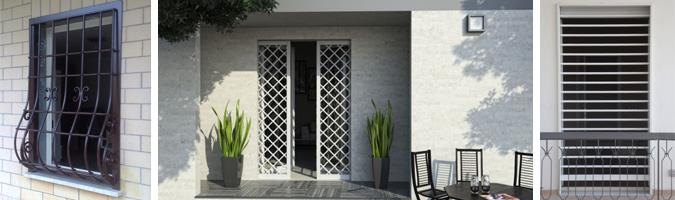 Grate di sicurezza per finestre e porte finestre