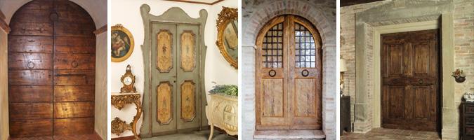 Porte in legno restaurate