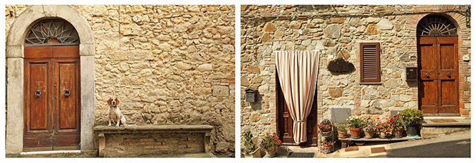 Porte in stile country