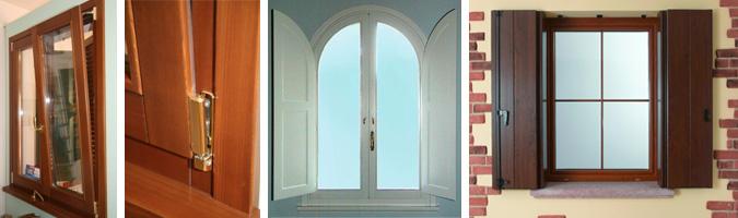 Finestre e porte finestre con telaio in legno