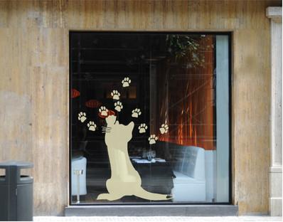 Decorazioni per i vetri adesive - Guarnizioni adesive per finestre ...